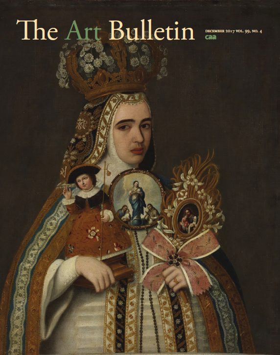 Journal Cover - Title in cream and green lettering over a painting of an elaborately dressed figure holding presumably religious objects.