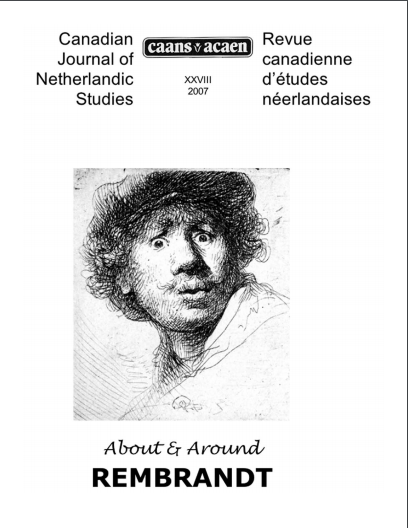 Journal Cover - Title in black lettering above a sketch drawing of a person's face against a white background.