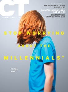 Journal Cover - Title in white and yellow lettering over a photograph of a person in a blue shirt standing with their auburn hair covering their face against a lavender background.