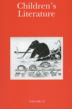 Journal Cover - Title in white lettering above an illustration of a black elephant and other assortment of animals in a white box against an orange background.