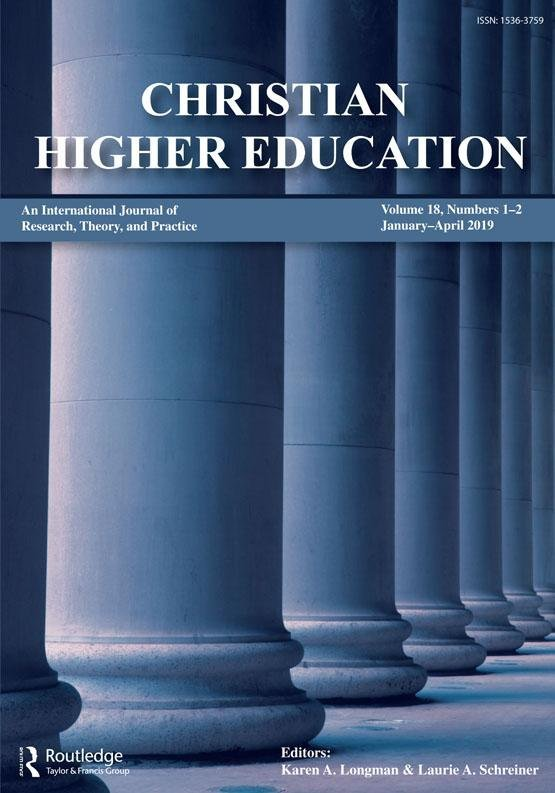 Journal Cover - Title in white lettering over a blue-scaled image of tall, thick pillars.