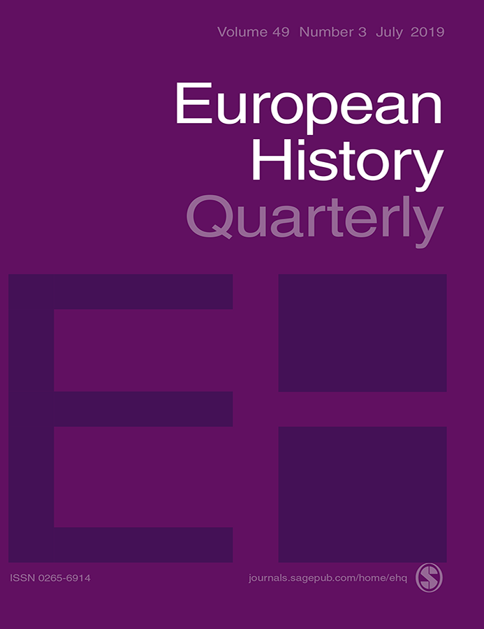Journal Cover - Title in white and light purple lettering against a dark purple background with the large letters EH below.