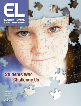 Journal Cover - Title in white lettering in a purple box over a jigsaw puzzle image of a young child against a light blue background.