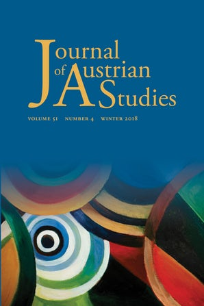 Journal Cover - Title in gold lettering above a colorful abstract painting of multiple rings that fade into a blue background.