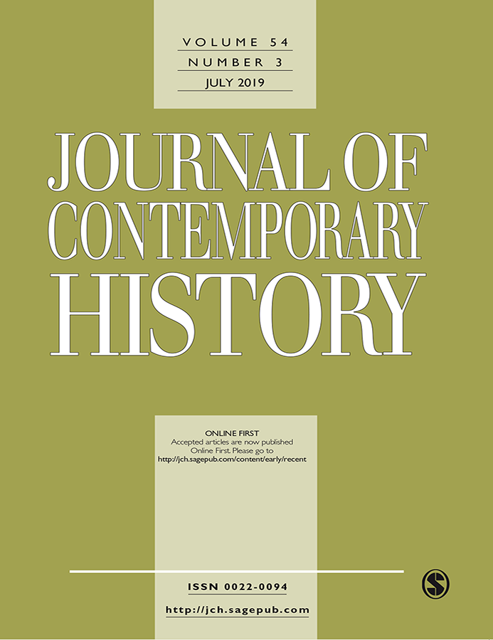 Journal Cover - Title in white lettering against a green background with a light green vertical banner running through the center.
