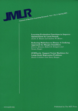 Journal Cover - Title in dark blue and white lettering against a green background.