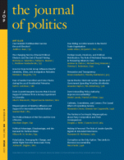 Journal Cover - Title in yellow lettering above columns of yellow and white text against a blue background with a vertical yellow banner on the left.