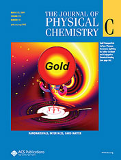 Journal Cover - Title in white lettering above a colorful scientific diagram of gold against a blue background.