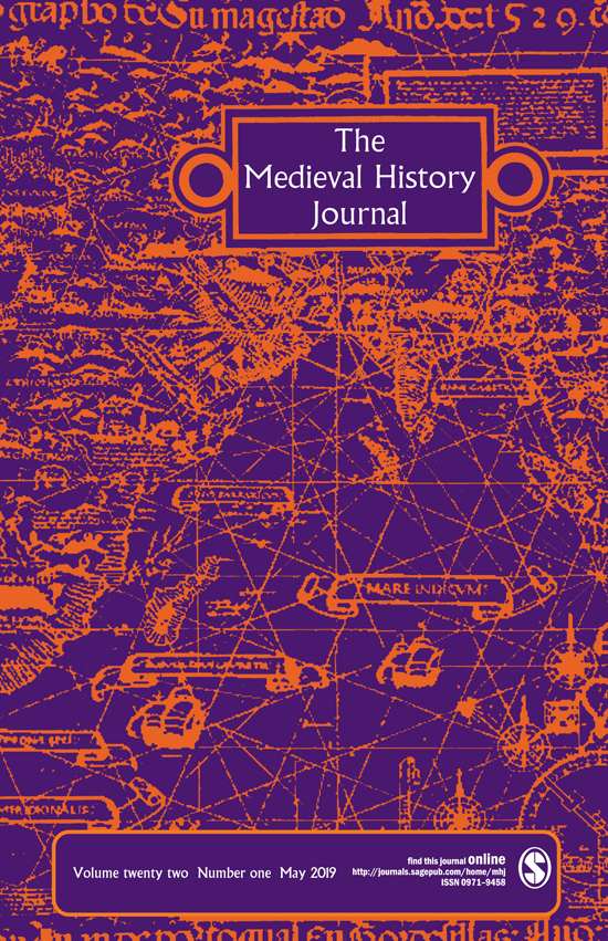 Journal Cover - Title in white lettering inside an orange outlined box above a network of orange mapping against a purple background.
