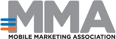 Logo - Text in black lettering underneath the letters MMA in grey lettering with blue and orange lines on the first M.