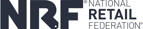 Logo - Text in dark grey lettering next to NRF in larger, bold letters.