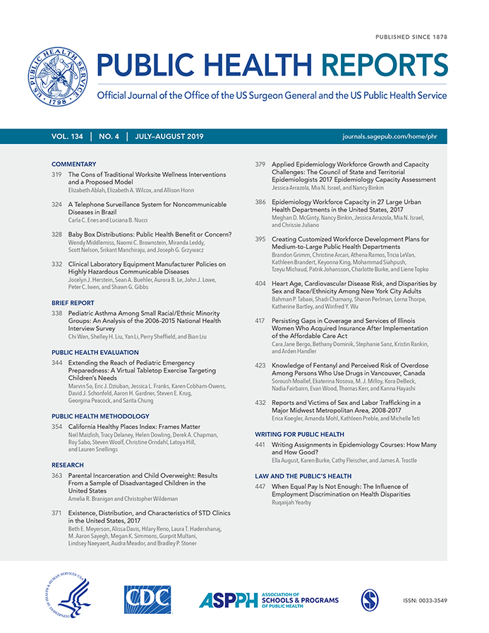 Journal Cover - Title in two shades of blue lettering above columns of blue and black text against a white background.