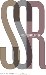 Journal Cover - Title in white lettering over the letters SSR in large, overlapping letters against a white background.