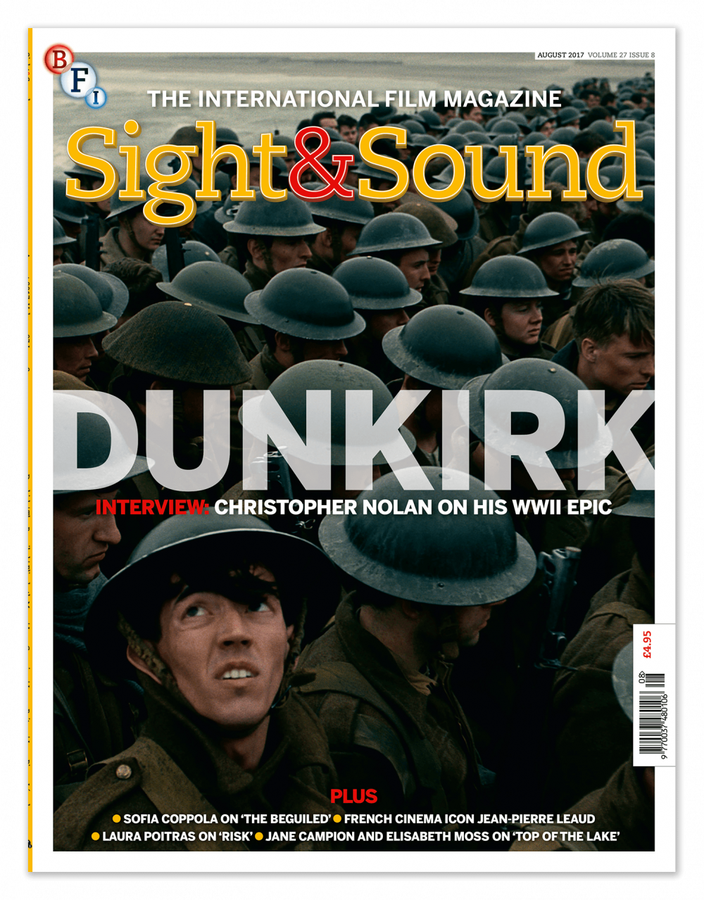 Journal Cover - Title in yellow and red lettering over a promotional photograph for the movie Dunkirk.