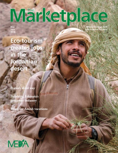 Journal Cover - Title in green lettering over a photograph of a Jordanian man hiking outside.