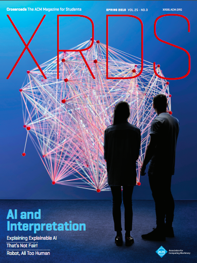 Journal Cover - Title in red lettering over a photograph of two people observing a network of red dots connected by hundreds of strings.