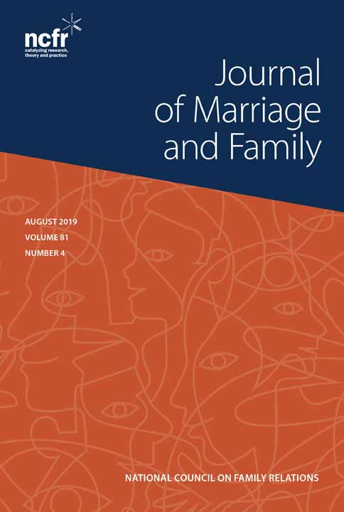 Journal Cover - Title in white lettering in a slanted, dark blue box against an orange background with overlapping, abstract outlines of human faces.
