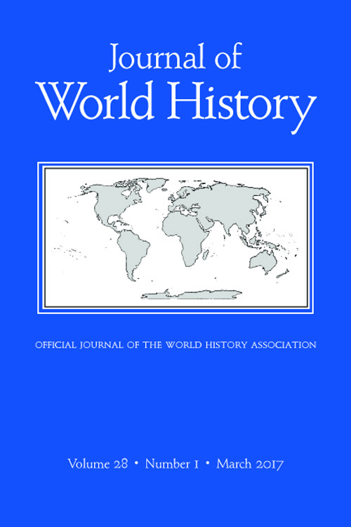 Journal Cover - Title in white lettering above a white and grey map of the world against a blue background.