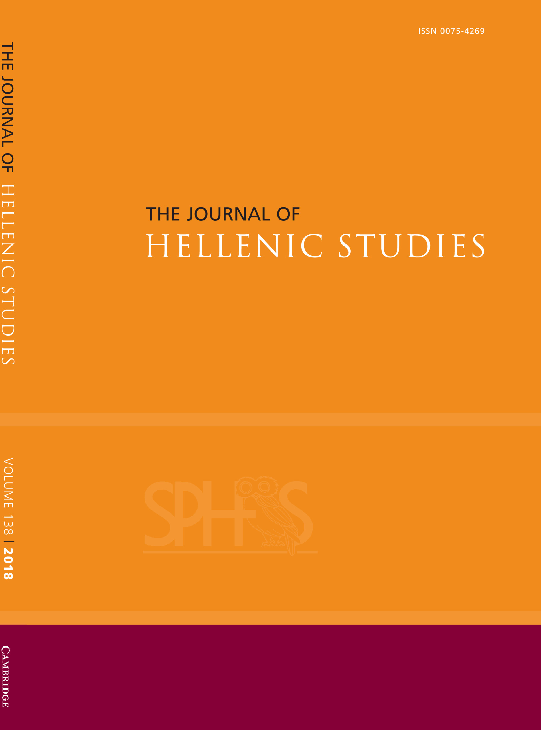 Journal Cover - Title in black and white lettering against an orange background with a horizontal magenta banner at the bottom.