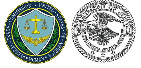 US Federal Trade Commission and Dept of Justice logos