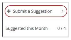 Submit a Suggestion button from My APL account