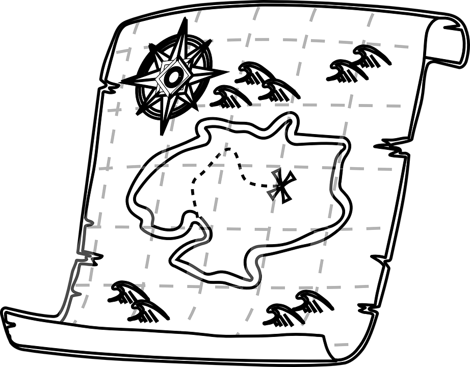Map on Scroll Clipart Icon