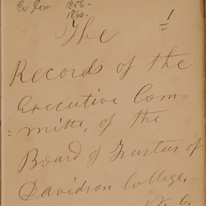 Records of the Board of Trustees, 19th Century