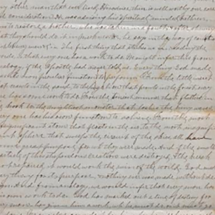 Selected manuscript document from the Robert Z Johnston collection