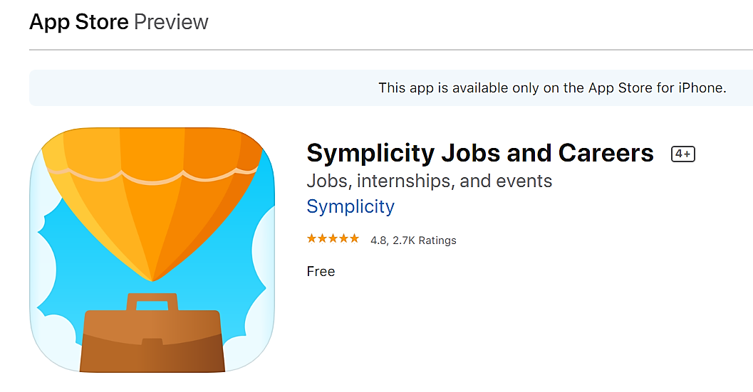 Symplicity icon in iphone app store