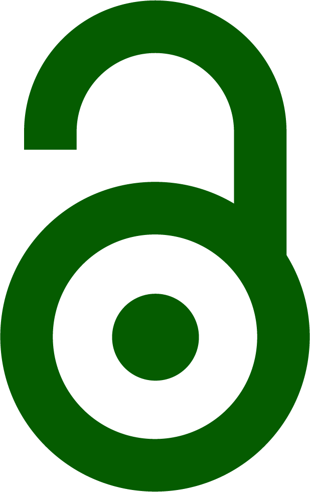 Green lock open access symbol indicating Green OA model