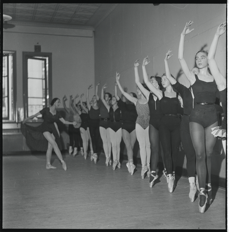 School of American Ballet. Credit: Frederick Melton. Courtesy of NYPL Digital Collections.