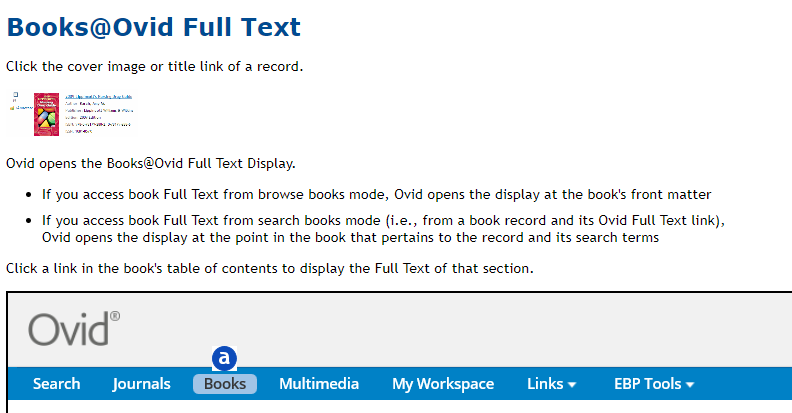 Image of Ovid Full Text Books guide