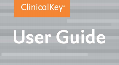 Image of ClinicalKey user guide