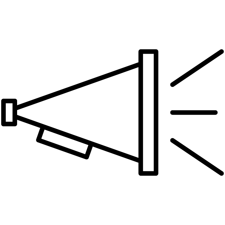 icon of a bullhorn