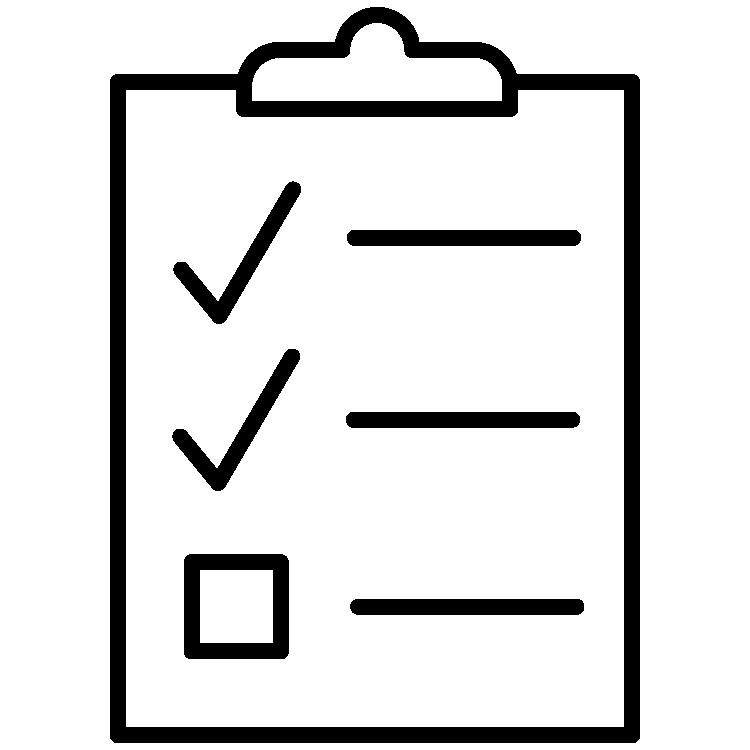 icon of a checklist on a clipboard
