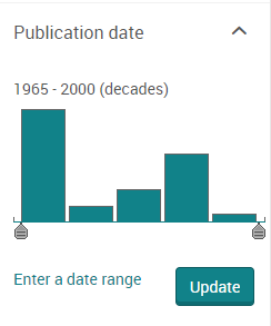 date slider in a proquest database