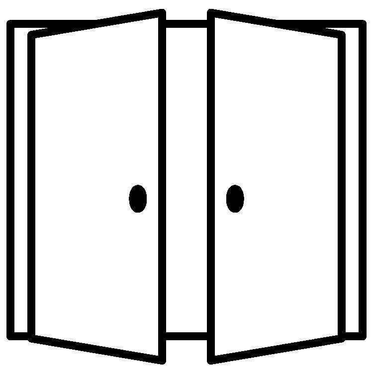 icon of opening doors