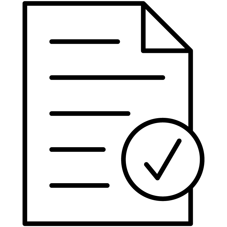 icon of document with checkmark