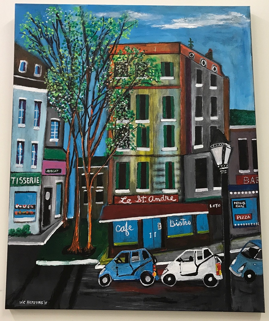 Rue St. Andre painting image