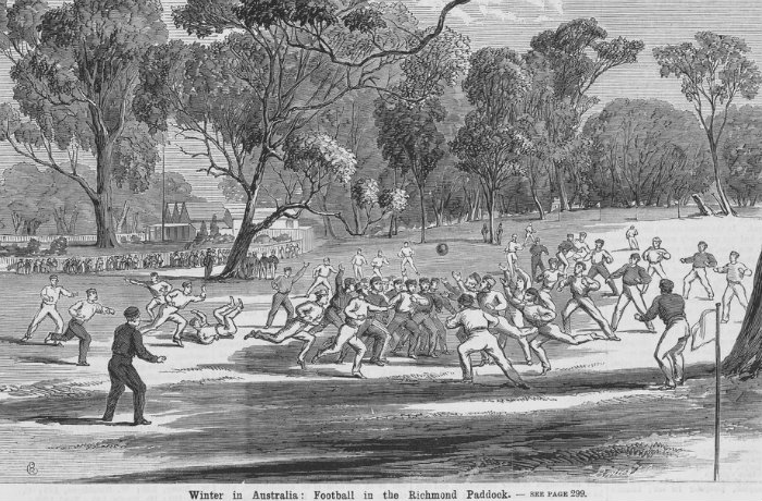 Football in the Richmond Paddock