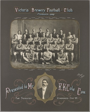 Victoria Brewery Football Club Premiers 1909 H26346
