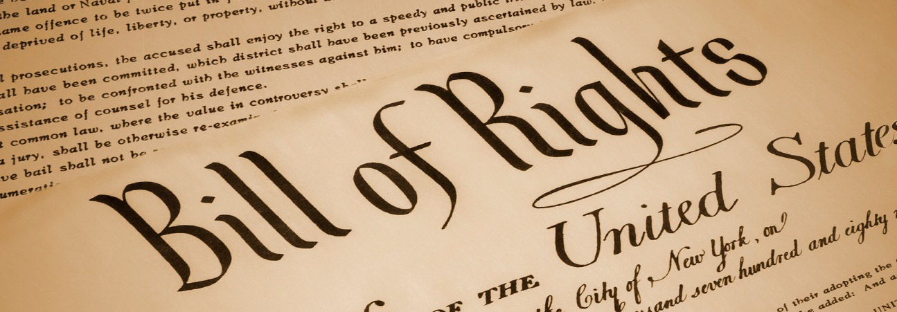Photo: Detail of the title of the Bill of Rights. Image via https://www.census.gov/newsroom/stories/bill-of-rights-day.html