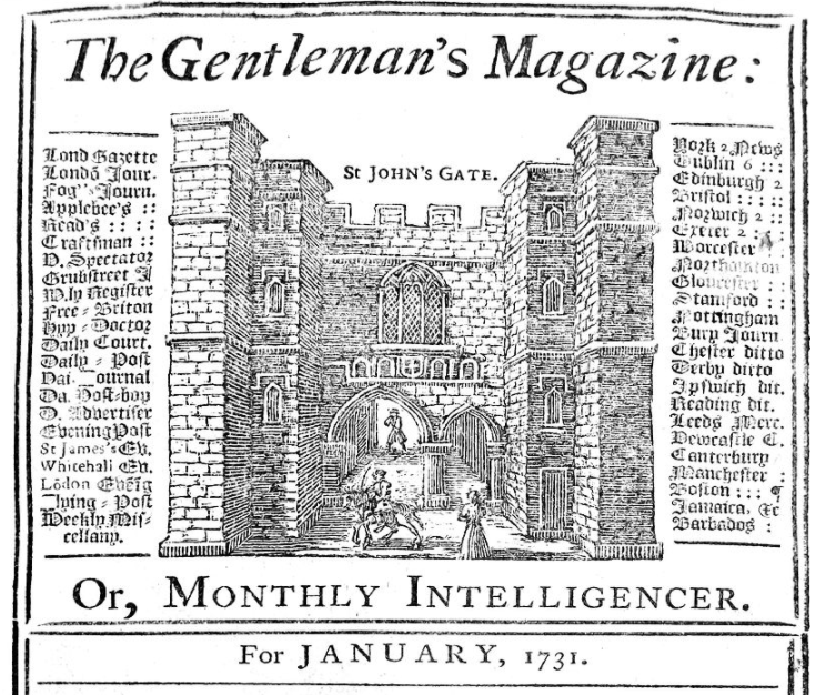 Front cover of The Gentleman's Magazine
