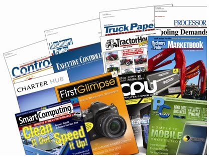 collage of trade publications