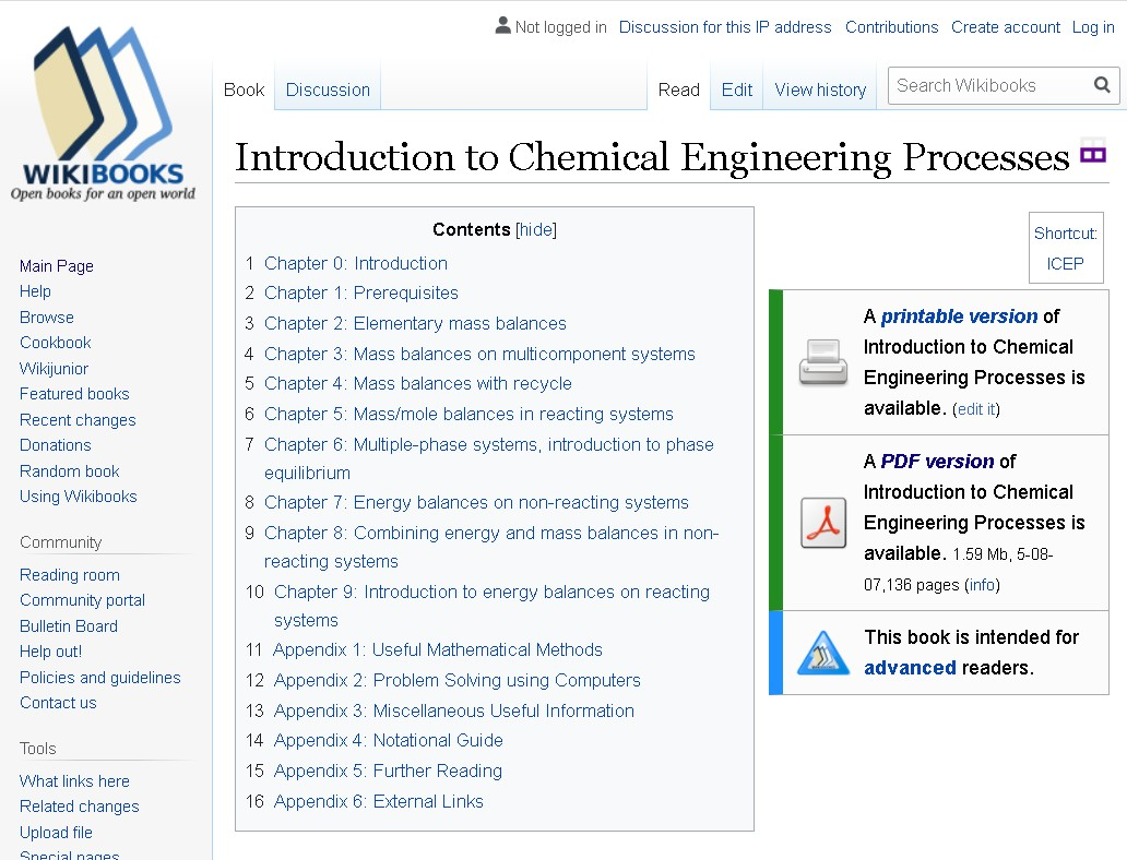 Introduction to Chemical Processes WIki