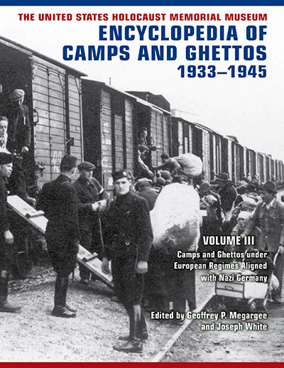 Book cover: The United States Holocaust Memorial Museum Encyclopedia of Camps and Ghettos, 1933-1945