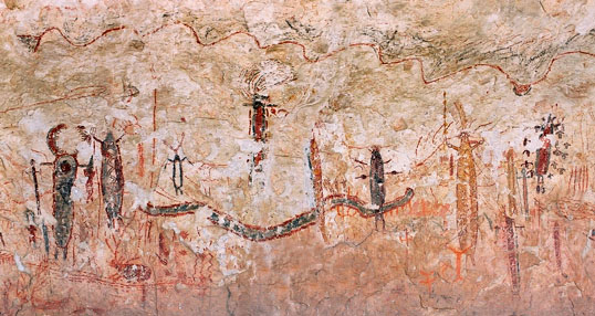 Pecos cave drawings