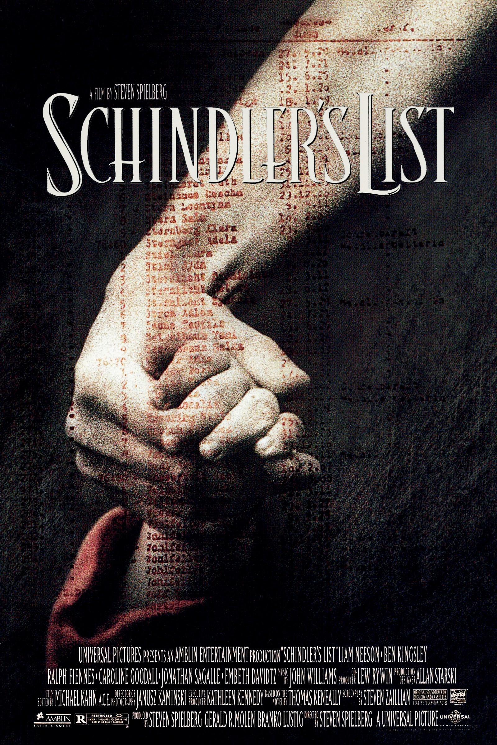 Schindler's List DVD cover