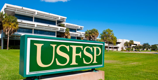 NMPL library with USFSP sign