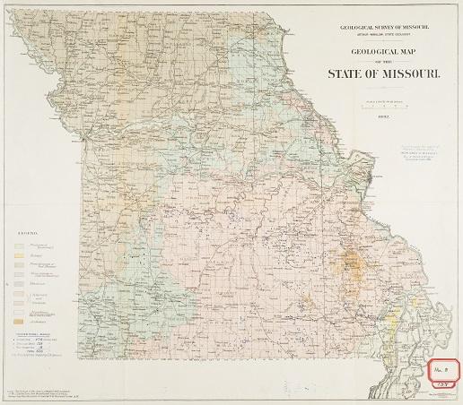 Geologic Map of Missouri 1876